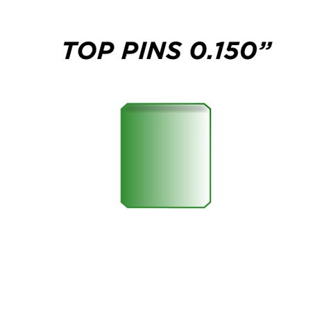 """TOP PIN *GREEN* (0.150"""") - Pkt of 144"""