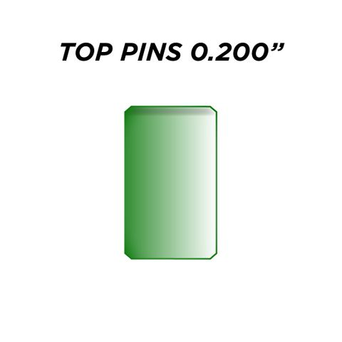 """TOP PIN *GREEN* (0.200"""") - Pkt of 144"""