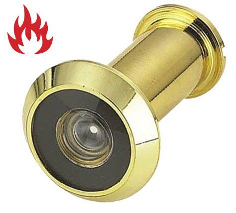 'SuperViewer' 200° DOOR VIEWER *Fire Rated* - 35-60mm Door (BRASS)