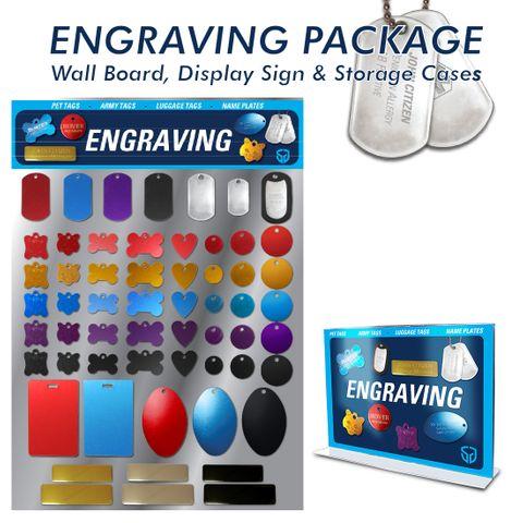 'Engraving' Pkg - Engraving Tags+ Storage Cases+ Sample Board+ Sign