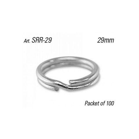 SPLIT RING - 29mm Dia. (Round Profile) - Pkt of 100