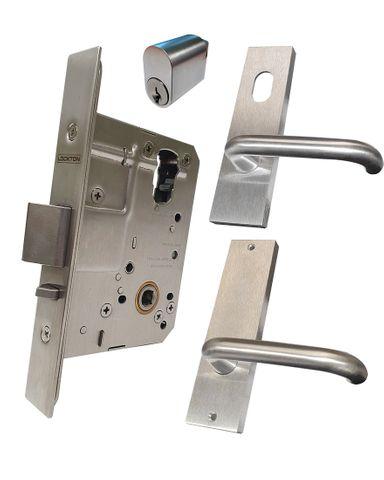 '60mm' Mortice Lock KIT (CLASSROOM) - Inc. Lock, Furniture & Cylinder