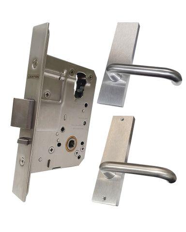 '60mm' Mortice Lock KIT (PASSAGE) - Inc. Lock & Furniture