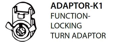Mortice ADAPTOR K1 = Locking Turn Adaptor (PKT of 5)