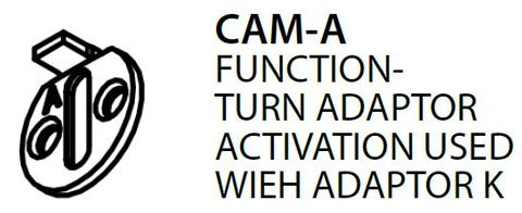 Mortice CAM-A = Turn Adaptor Activation Cam (PKT of 5) - For Use With K1 Adaptor