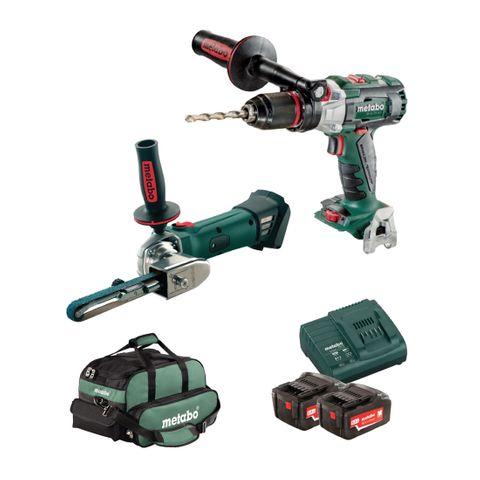'Locksmith' STARTER 18v KIT - Drill & Power File + 2-Batteries, Charger & Bag