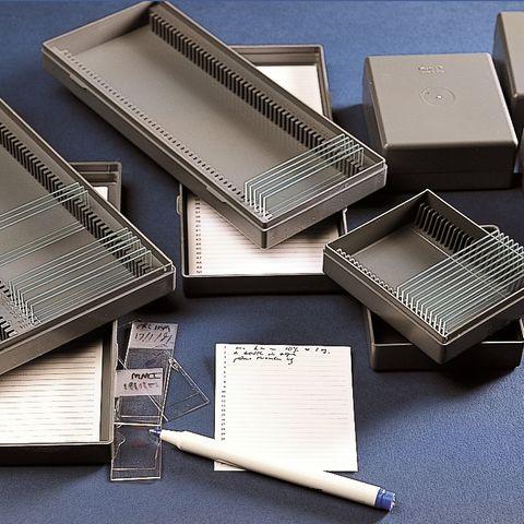 MICROSCOPE SLIDE BOX (HIGH IMPACT PS)