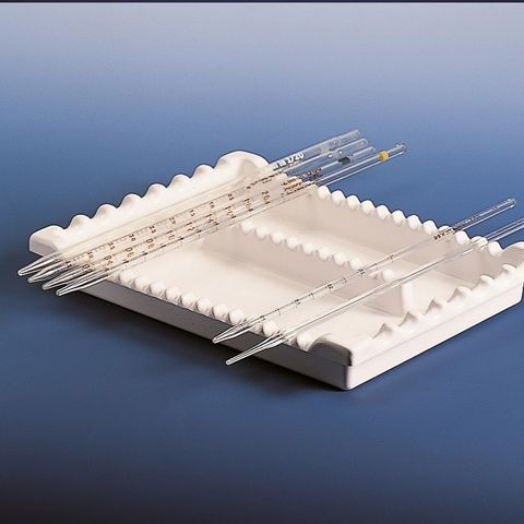 TRAY - PIPETTE - 2-COMPARTMENTS (PVC)