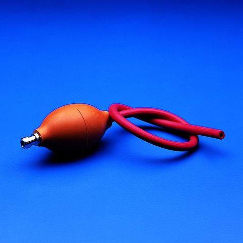 BELLOWS - MONO-BALL - 2 x VALVES & HOSE - FOR VACUUM (RED RUBBER)