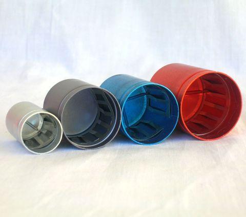 TEST TUBE CAP (9-10mm) - LAB-O-CAP (ALUM. + S/STEEL)