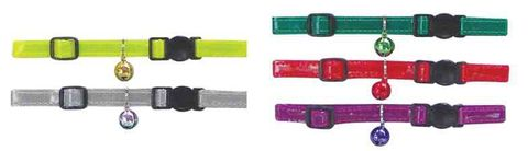 CAT NYLON ADJUSTABLE REFLECTIVE COLLARS