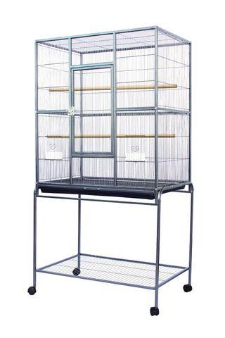 Flight Cage HD & Stand Black 82x52x150cm