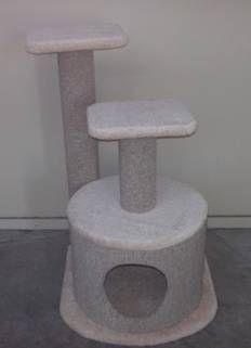 Cat Post w/platform & Igloo 50x50x90cm