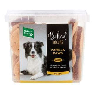 NATURAL PAW CO 6x500g VANILLA PAWS BISCU