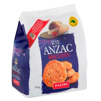 BAKERS FINEST 8x300g RSL ANZAC BISCUITS