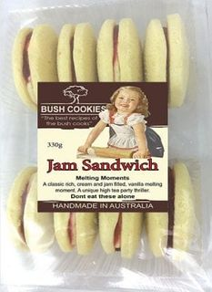 BUSH COOKIES 12x330gm JAM SANDWICH