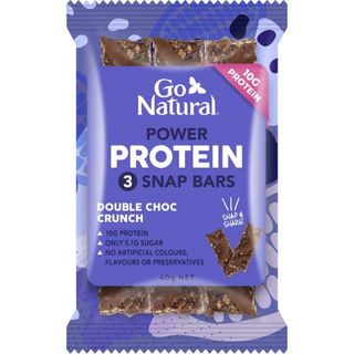GO NATURAL 10x40gm PROTEIN POWER 3 SNAP