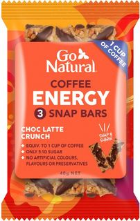 GO NATURAL 10x40gm COFFEE ENERGY 3 SNAP