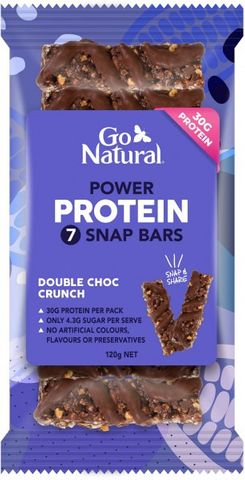 GO NATURAL 10x120gm PROTEIN POWER 7 SNAP