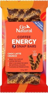 GO NATURAL 10x120gm COFFEE ENERGY 7 SNAP