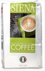 SIENA 12x1kg ESPRESSO BLEND COFFEE BEANS