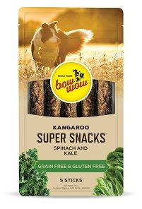 BOW WOW 8x5pk S/SNACK K/ROO SPINCH/KALE