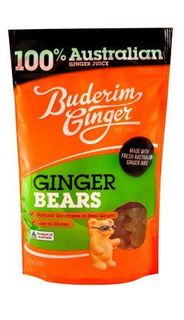 BUDERIM 8x175gm GINGER BEARS