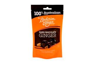 BUDERIM 9x150gm DARK CHOCOLATE GINGER