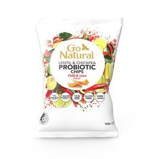 GO NAT 5x100gm P/BIOTIC CHIP CHILLI LIME