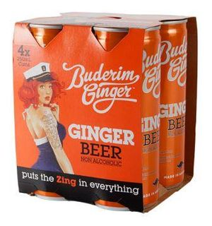 BUDERIM 6x(4x250ml) GINGER BEER