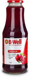 B-WELL 8x1Lt 100% POMEGRANATE JUICE