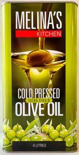 MELINA'S 4 litre (4) XTRA VIRG OLIVE OIL