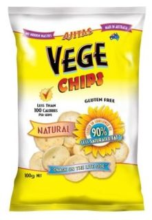 VEGE CHIPS 6x100gm NATURAL