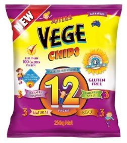 VEGE CHIPS 8x250gm MULTIPACK