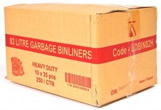 GARBAGE BAGS H/DUTY 82LT 250's