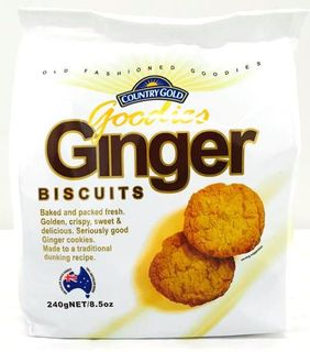 COUNTRY GOLD 5x240gm GINGER BISCUITS