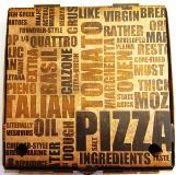 """TEXT PRINT 15"""" (50'S) PIZZA BOXES"""