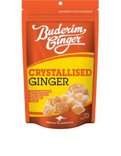 BUDERIM 6x250gm CRYSTALISED GINGER MILD