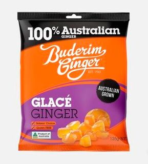BUDERIM 12x125gm GLACE GINGER