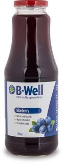 B-WELL 8x1Lt 100% BLUEBERRY JUICE F/SQ