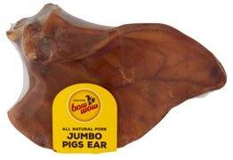 BOW WOW 12x1pk JUMBO PIGS EARS SINGLE