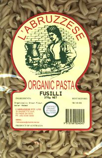 L'ABRUZZESE 12x375gm ORG FUSILLI/TWISTS
