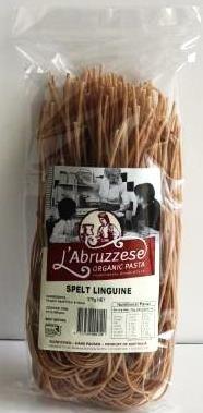 L'ABRUZZESE 12x375gm ORG SPELT  LINGUINE