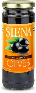 SIENA 6x440g PITTED BLACK OLIVES