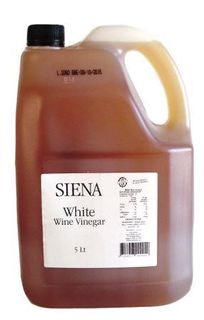 SIENA 5lt (2) ITALIAN WHITE WINE VINEGAR