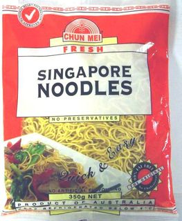 CHUN MEI 6x350gm SINGAPORE NOODLES