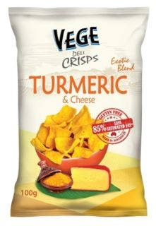 VEGE DELI CRISPS 5x100gm TURMERIC/CHEESE