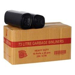 GARBAGE BIN LINERS 73LT 250'S