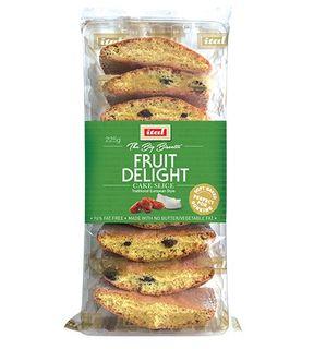 ITAL 10x225g FRUIT DELIGHT CAKE SLICE