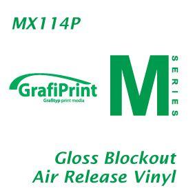GRAFIPRINT MX114P AIR ESCAPE BLOCKOUT VINYL